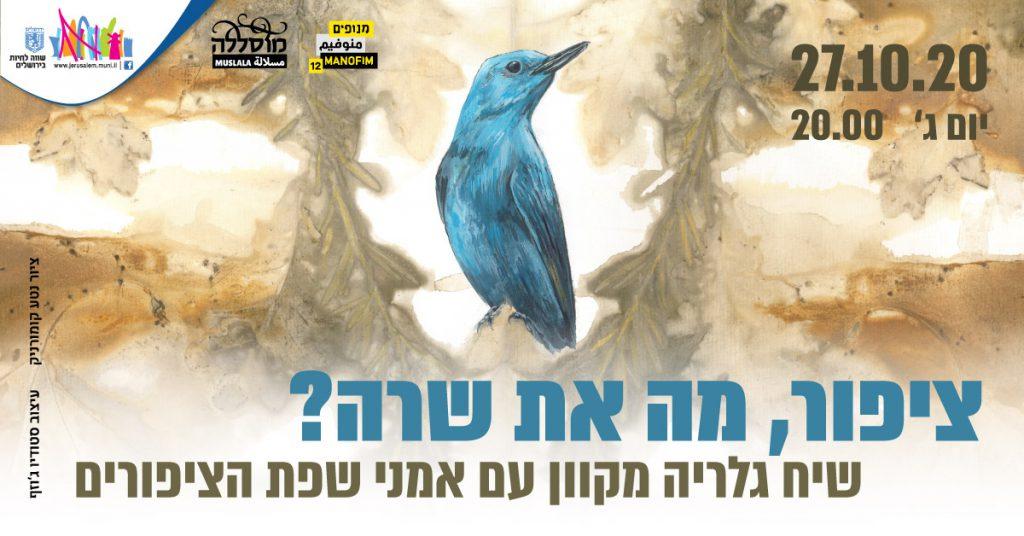 ציפור, מה את שרה? שיח גלריה מקוון עם אמני שפת הציפורים